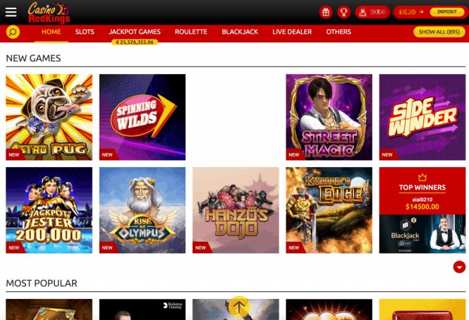Casino Redkings Game Lobby Screenshot