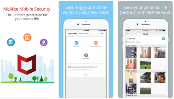 Antivirus app for iPhone- McAfee Mobile Security