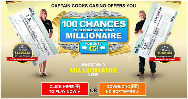 Captain Cooks Casino Canada- Bonuses