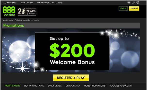 Casino Bonuses- Welcome Bonus