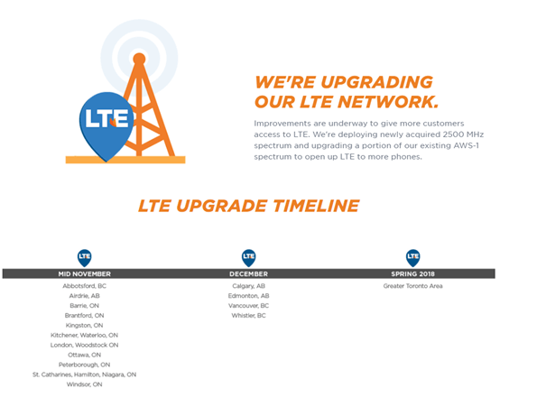 Freedom Mobile- LTE Upgrades