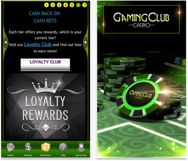 Games to enjoy at Gaming Club Casino Canada with your iPhone