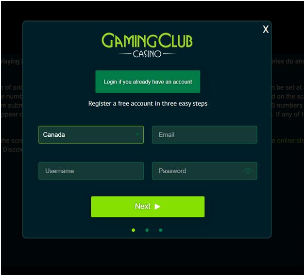 Gaming club registeration