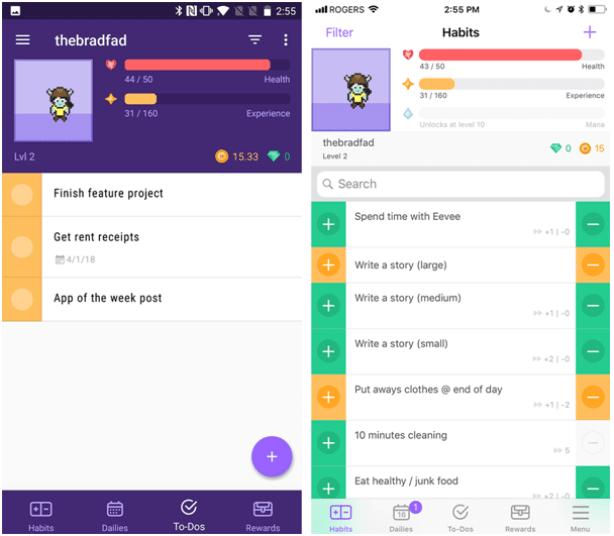 Habitat app-for iPhone