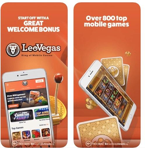 Leo Vegas casino app for slots