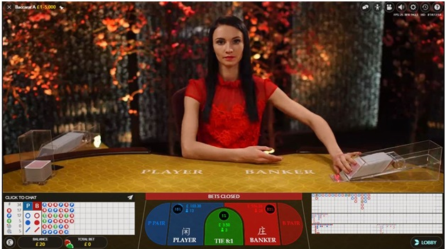 Live Baccarat game to play