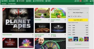 Mini Games offered by Unibet