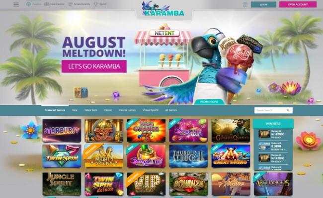 Platform and Software -Karamba Casino
