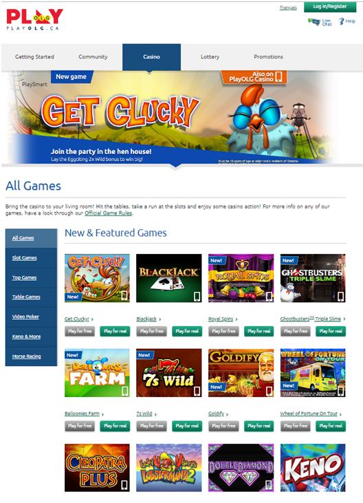 Games to enjoy at Play OLG Canada