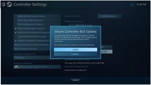 Steam Controller BLE Update