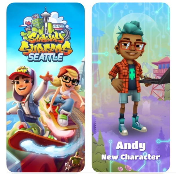 Subway surfers game app for iPhone