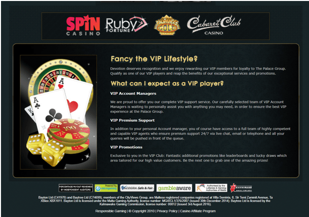 What is VIP program at Spin Casino Canada
