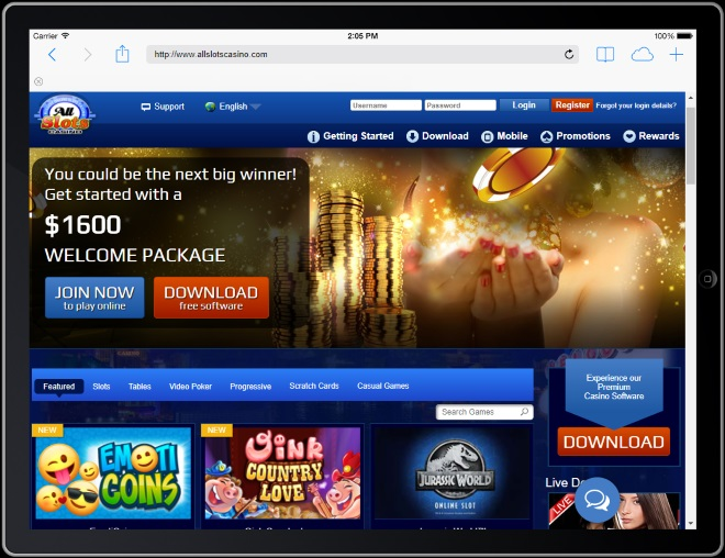 All Slots Casino for Real Money on iPad