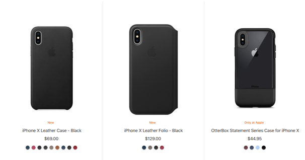 Leather cases for iPhone X