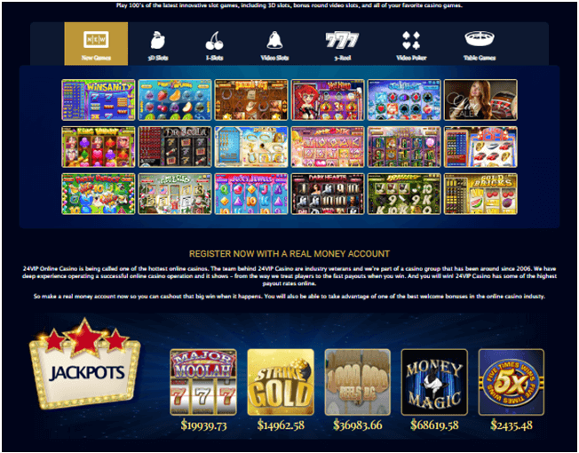 Games to play at 24 VIP casino