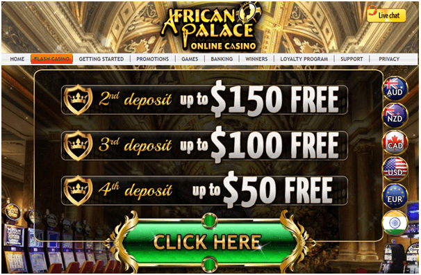African Palace casino promo
