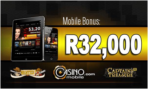 Casino.com ZAR mobile bonus