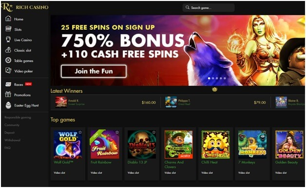 Rich casino welcome bonus for punters
