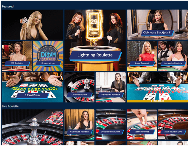 Sporting bet live casino