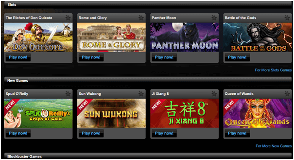Titan casino games