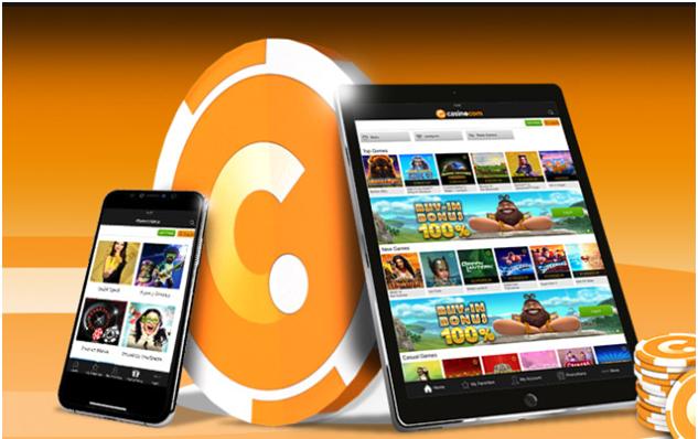 Casino.com bietet Spielern mobiles Spielen auf jedem Smartphone, um sofortige Slots zu spielen.