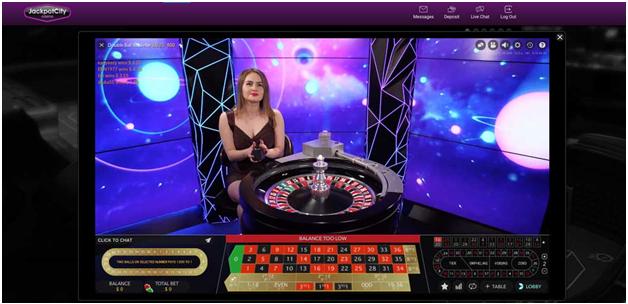 Das Jackpot City Online Casino hat einen großartigen Live Dealer Bereich