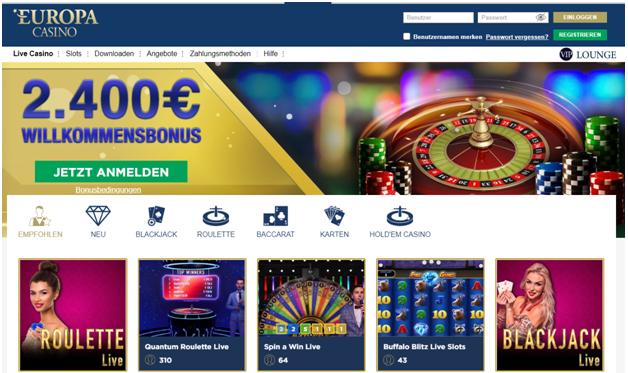 Europa Casino Bonusangebot