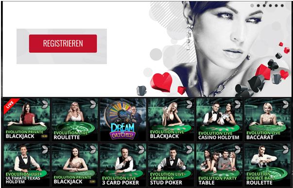 Das Live Casino bei Platinum Play bietet Live-Blackjack, Live-Roulette, Live-Baccarat, Live-Poker und andere Live-Spiele