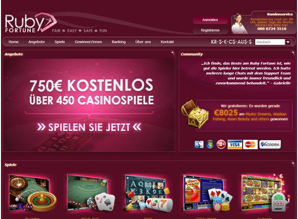 Ruby Fortune Casino für deutsche Spieler