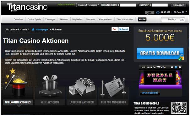 Titan Casino bonus