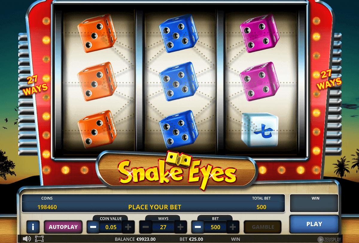 Snake Eyes Slot Machine Online %e1%90%88 Zeus Play Casino Slots