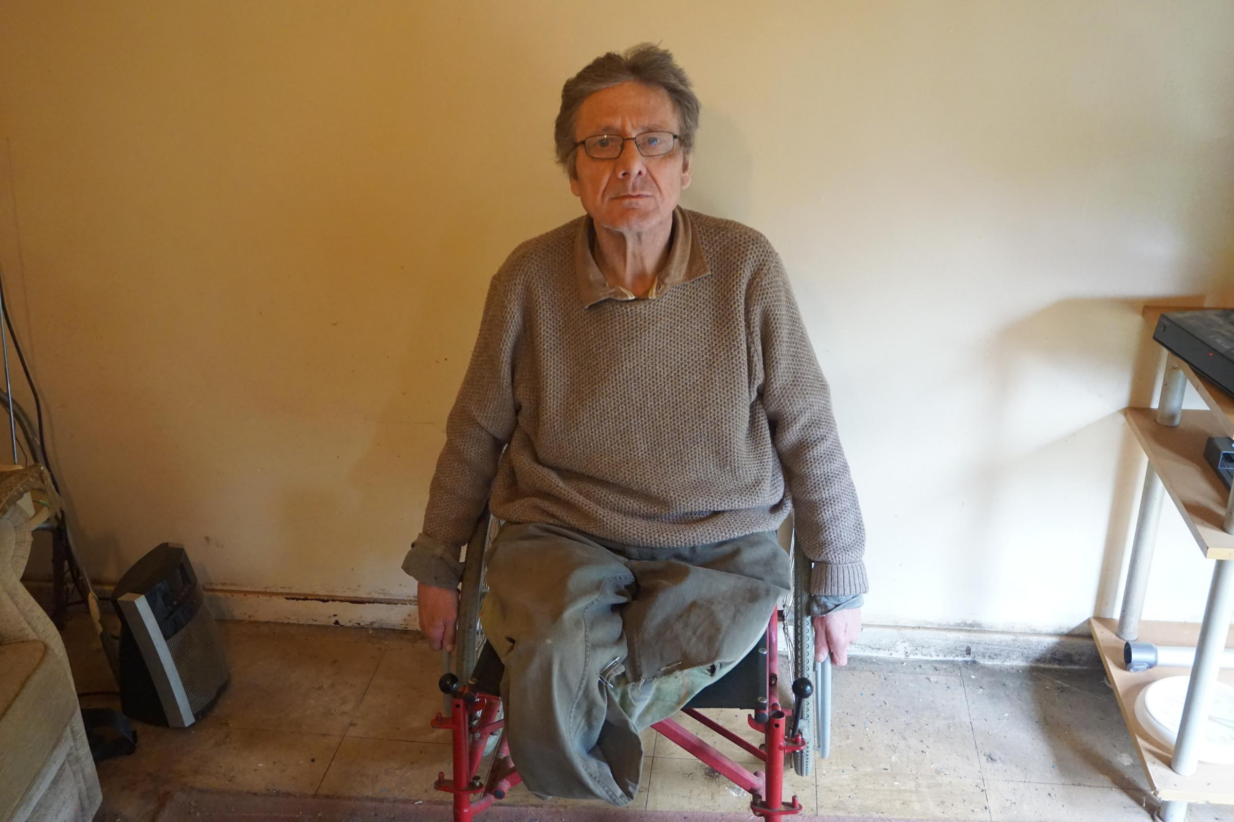 Leonard Andrews, 64, has to work without legs