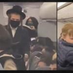 VIDEO: Covidový teror: Americké aerolinky vyhodily z letadla chasidskou židovskou rodinu, protože jejich 18-měsíční dítě mělo místo roušky dudlík!