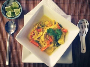Thai Chicken and Vermicelli Noodle Soup