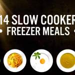 14 Slow Cooked Freezer Meals!!  ~ Instructions, Recipes & Shopping Lists ~