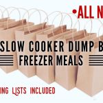 *All New* 14 Day Slow Cooker Dump Bag Freezer Meals (Shopping Lists Included)