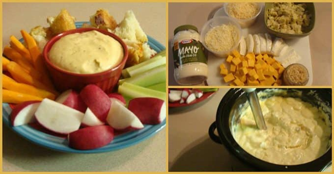 Slow Cooker Hot Artichoke. Find this yumminess & more @ http://www.slowcookerkitchen.com
