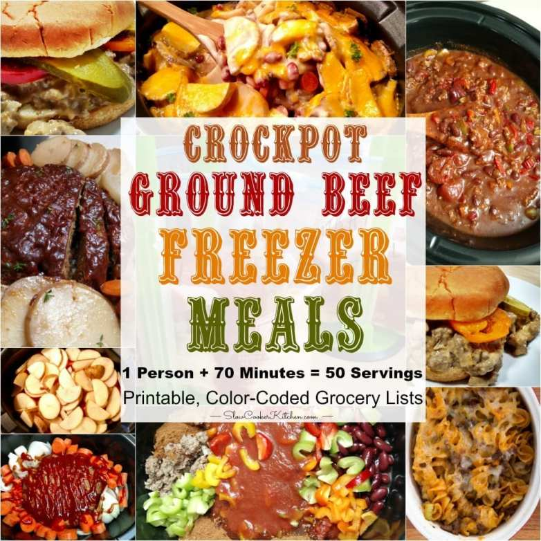 Crock Pot Ground Beef Recipes for the Freezer