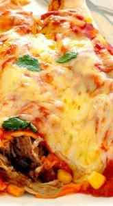 Pulled Pork Enchilada Casserole