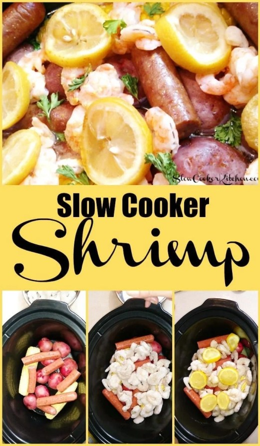 Slow Cooker Shrimp and Sausage Dinner
