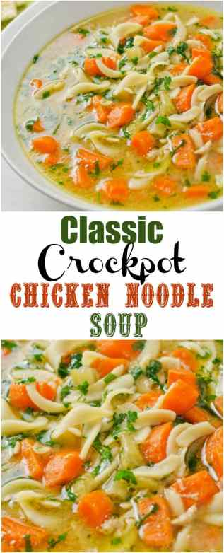 Classic Crockpot Chicken Noodle Soup