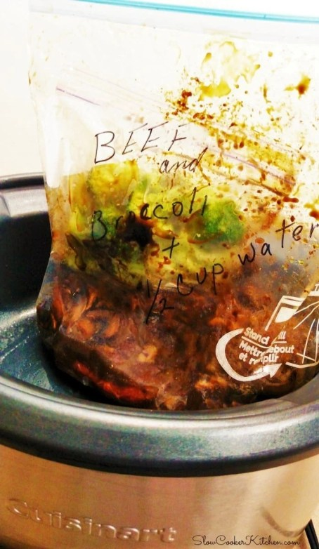 Beef and Broccoli Crock Pot Freezer Meal