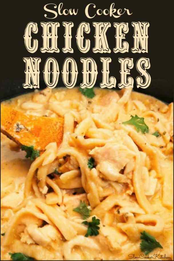 Slow Cooker Chicken Noodles