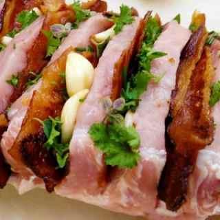 Bacon Maple Garlic Crock Pot Pork Loin