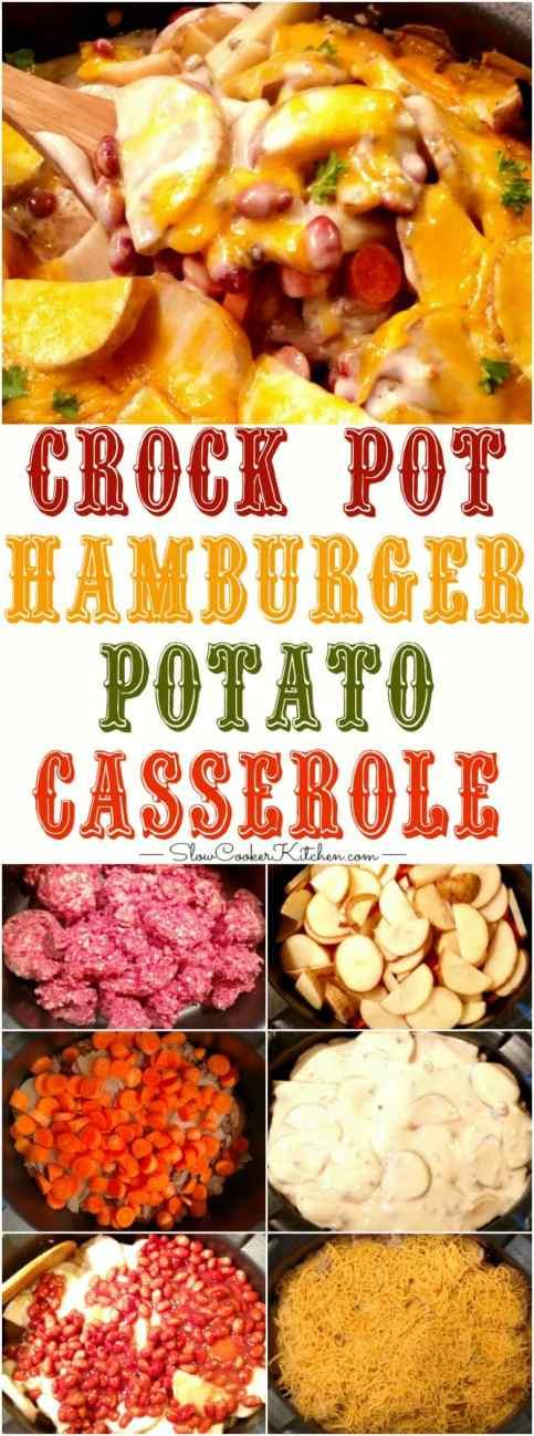 Slow Cooker Hamburger & Potato Casserole