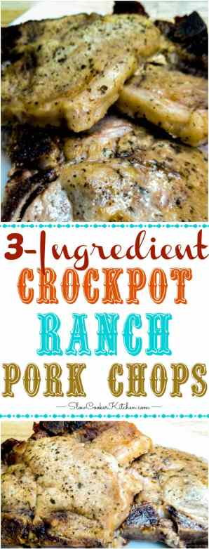 What is an easy Crock-Pot recipe for ranch pork chops?