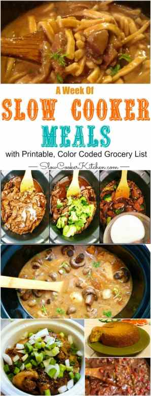 Prep for the week ahead with these crockpot meals for the week