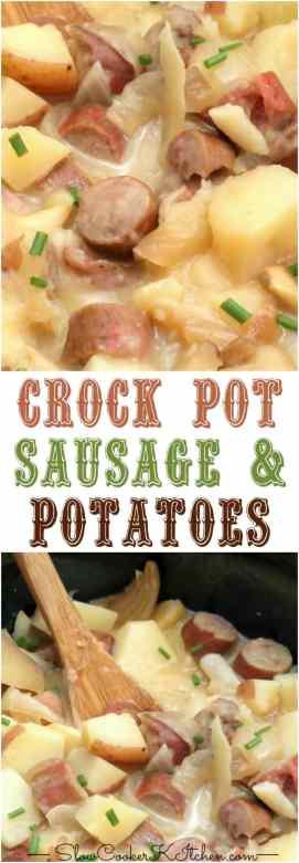 5 (to 7) Ingredient Crockpot Sausage & Potatoes