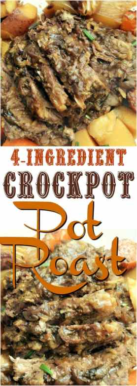 4-Ingredient French Onion Crock Pot Pot Roast