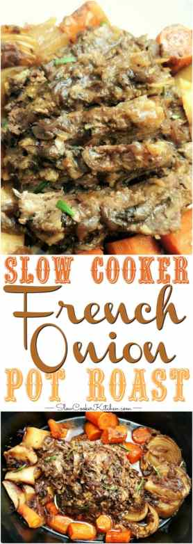 French Onion 4-Ingredient Crock Pot Pot Roast
